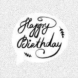 Ejemplo del vector con feliz cumpleaños del texto Fotografía de archivo libre de regalías