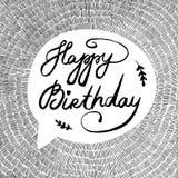 Ejemplo del vector con feliz cumpleaños del texto Foto de archivo libre de regalías