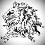 Ejemplo del vector con la cabeza barroca del león adentro Stock de ilustración