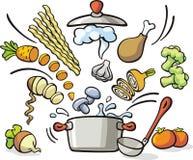 El cocinar - preparación de la sopa Imagen de archivo libre de regalías