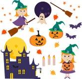 Ejemplo del vector con la colección de iconos de Halloween libre illustration