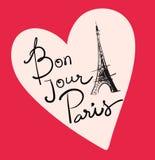 Ejemplo del vector con la torre Eiffel libre illustration