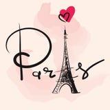 Ejemplo del vector con la torre Eiffel Fotografía de archivo libre de regalías