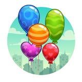 Ejemplo del vector con los globos lindos de la historieta Fotografía de archivo libre de regalías
