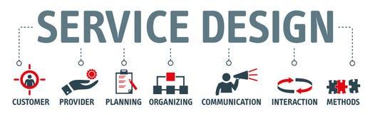 Ejemplo del vector del concepto de diseño del servicio de la bandera libre illustration