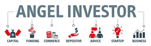 Ejemplo del vector del concepto del inversor del ángel ilustración del vector