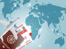 Ejemplo del vector del concepto del World Travel Fotografía de archivo libre de regalías