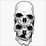 Ejemplo del vector del cráneo para las diversas necesidades del diseño fotos de archivo libres de regalías