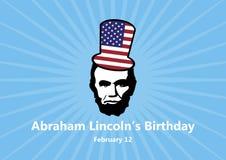 Ejemplo del vector del cumpleaños de los €™s de Abraham Lincolnâ ilustración del vector