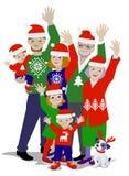 Ejemplo del vector de agitar feliz de la familia imagen de archivo libre de regalías
