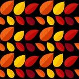Ejemplo del vector de Autumn Leaves Seamless Pattern Background Foto de archivo