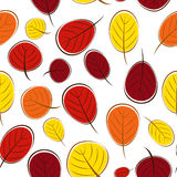 Ejemplo del vector de Autumn Leaves Seamless Pattern Background Fotografía de archivo libre de regalías