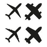Ejemplo del vector de aviones negros Libre Illustration