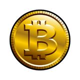 Ejemplo del vector de Bitcoin aislado en el fondo blanco libre illustration