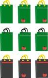 Ejemplo del vector de bolsos Imagen de archivo