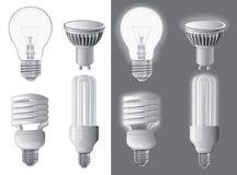 Ejemplo del vector de bombillas imagen de archivo