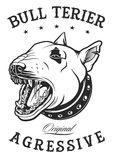 Ejemplo del vector de bull terrier Imagenes de archivo