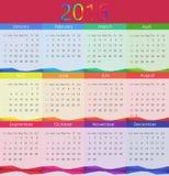 Ejemplo del vector de 2016 calendarios Año Nuevo Imagen de archivo