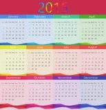 Ejemplo del vector de 2016 calendarios Año Nuevo Foto de archivo libre de regalías