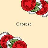 Ejemplo del vector de Caprese en estilo de la historieta stock de ilustración