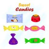 Ejemplo del vector de caramelos coloridos Imagen de archivo libre de regalías