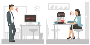 Ejemplo del vector de control de la voz Ordenador elegante libre illustration