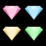 Ejemplo del vector de diamantes coloreados Libre Illustration