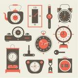 Sistema del reloj ilustración del vector
