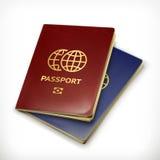 Ejemplo del vector de dos pasaportes Imagen de archivo libre de regalías