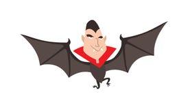 Ejemplo del vector de Drácula Halloween de la historieta Carácter divertido Foto de archivo