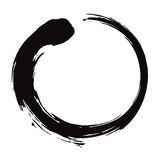 Ejemplo del vector de Enso Zen Circle Brush Black Ink Foto de archivo