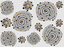 Ejemplo del vector de esferas espirales abstractas imagenes de archivo