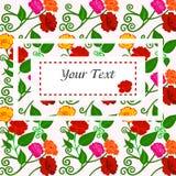 Ejemplo del vector de flores coloridas hermosas Fotos de archivo