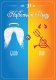 Ejemplo del vector de Halloween - cartel, aviador o invitación de Halloween Imagenes de archivo