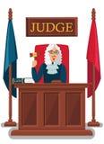 Ejemplo del vector de Holding Wooden Gavel del juez ilustración del vector