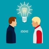 Ejemplo del vector de hombres La nueva idea libre illustration