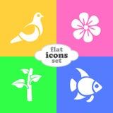Ejemplo del vector de iconos planos Fotos de archivo