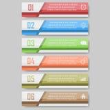 Ejemplo del vector de Infographic puede ser utilizado para la disposición del flujo de trabajo, diagrama, numera el ejemplo optio Foto de archivo libre de regalías