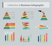 Ejemplo del vector de Infographics del negocio Fotos de archivo