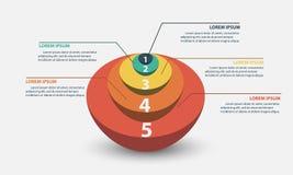 Ejemplo del vector de Infographics del negocio Fotos de archivo libres de regalías