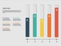 Ejemplo del vector de Infographics del negocio Fotografía de archivo