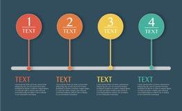 Ejemplo del vector de Infographics del negocio Imagenes de archivo