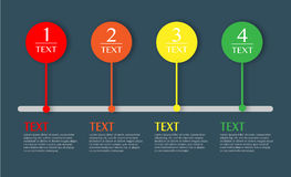 Ejemplo del vector de Infographics del negocio Imágenes de archivo libres de regalías