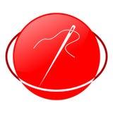Ejemplo del vector de la aguja, icono rojo Imagen de archivo libre de regalías