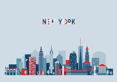 Ejemplo del vector de la arquitectura de New York City ilustración del vector
