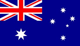 Ejemplo del vector de la bandera de Australia ilustración del vector