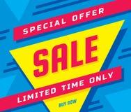 Ejemplo del vector de la bandera del concepto de la venta Disposición geométrica del extracto de la oferta especial Tiempo limita stock de ilustración