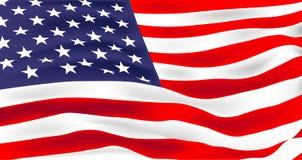 Ejemplo del vector de la bandera de los E.E.U.U. Himno americano stock de ilustración