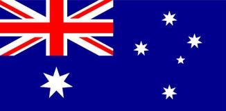 Ejemplo del vector de la bandera nacional de Autralian Bandera de Australia, colores oficiales y proporción correctamente Bandera ilustración del vector