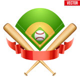 Ejemplo del vector de la bola del cuero del béisbol y ilustración del vector